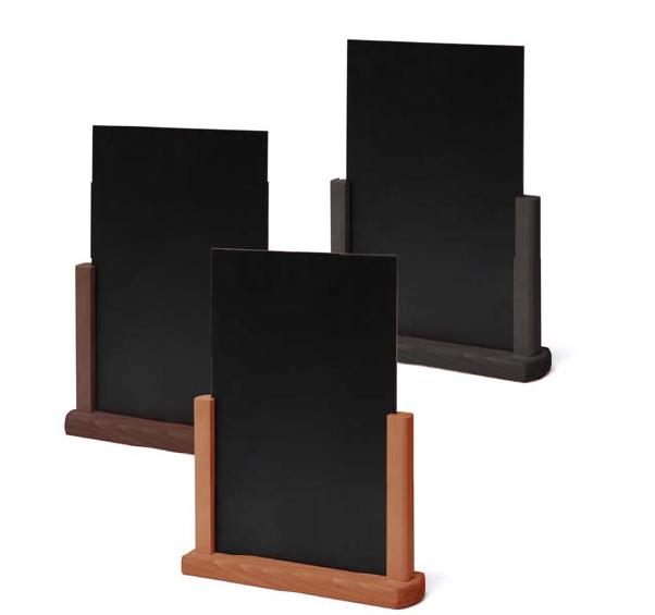 JD NATURA Dřevěný menu stojánek A5/148×210 mm (černá)