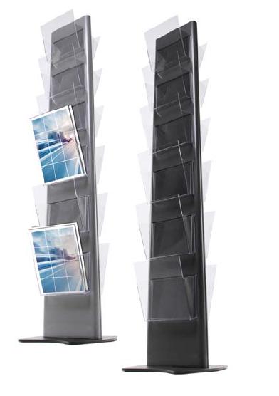 Stojan na letáky Torre 12×A4 210×297 mm (šedá)