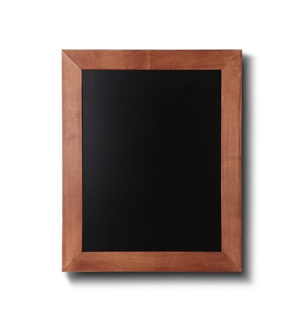 Křídová tabule se světle hnědým rámem z bukového dřeva