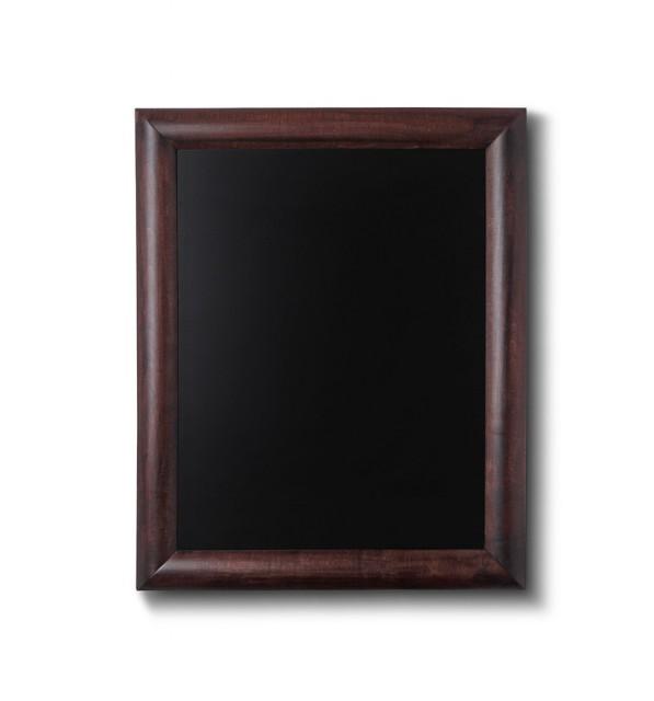 Křídová tabule s tmavě hnědým rámem z bukového dřeva 60x80 cm cm