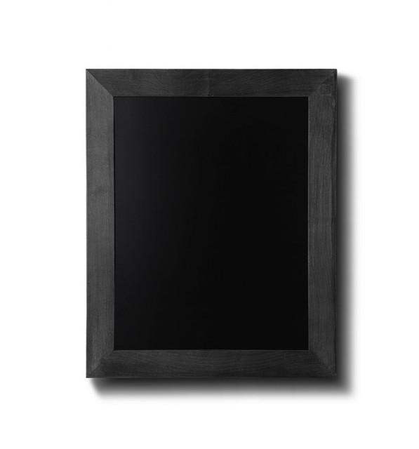 Křídová tabule s černým rámem z bukového dřeva 50x60 cm cm