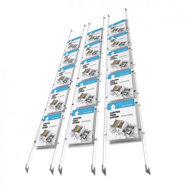Lankový set s pěti kapsami na letáky A4 Appendo E-clip