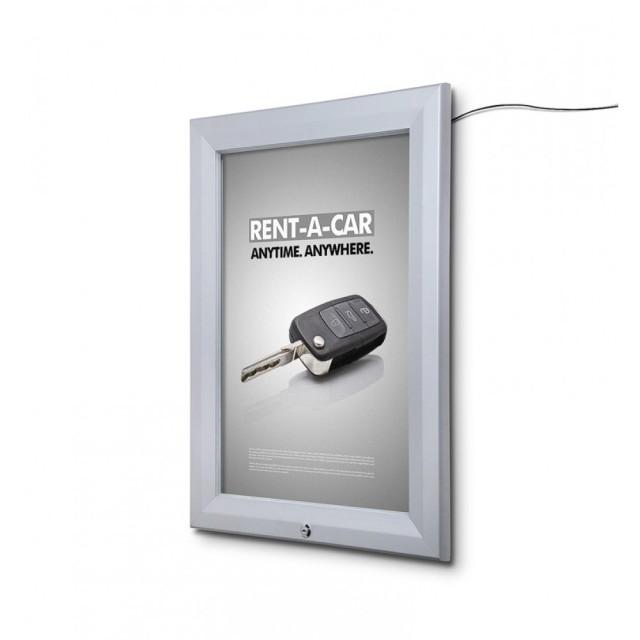 LED Venkovní plakátová vitrína 700×1000mm