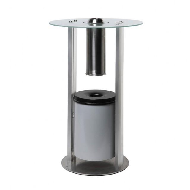 Nerezový kuřácký stolek