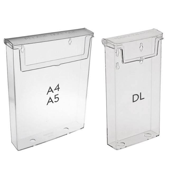 Venkovní schránka na letáky Formát DL (1/3 A4)