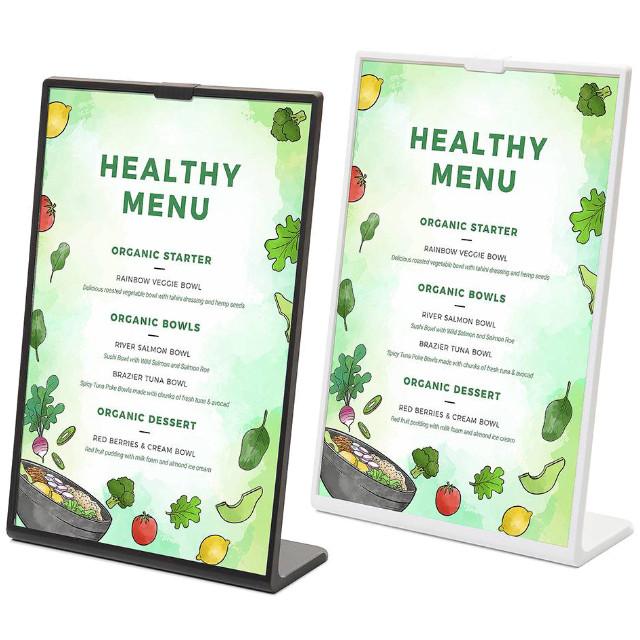SCRITTO® barevný menu stojánek typu L jednostranný