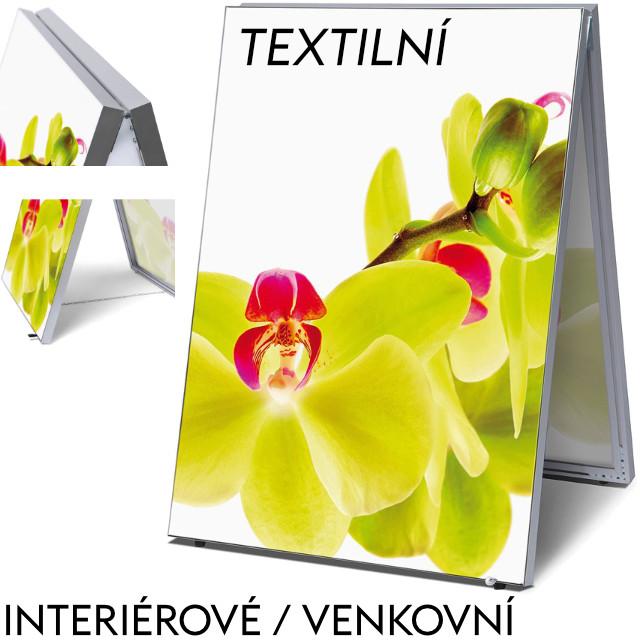 Reklamní áčko z vypínacích textilních rámů - ekonomické Formát B1 (700 x 1000 mm) - pouze rám