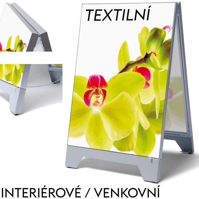 Reklamní áčko z vypínacích textilních rámů Formát B1 (700 x 1000 mm) - pouze rám