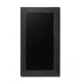 Křídová tabule s rámem z bukového dřeva v barvě černé