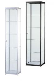 Skleněná produktová vitrína osvětlená 400 mm / 500 mm