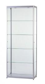 Skleněná produktová vitrína osvětlená 800 mm - boční dveře