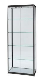 Skleněná produktová vitrína osvětlená 800 mm - dvojité dveře