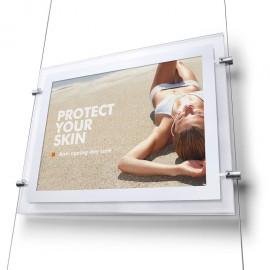 LED Panel s bočními úchyty na lanko