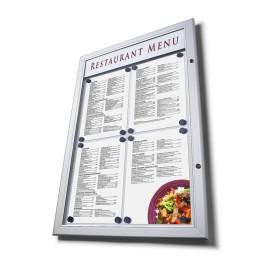 Venkovní LED menu vitrína
