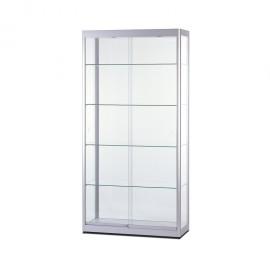 Vitrína - Produktová skříň 1000 mm - OBLÝ PROFIL 32mm