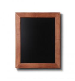 Křídová tabule se světlehnědým rámem z bukového dřeva