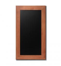 Křídová tabule s rámem z bukového dřeva v barvě světle hnědé.