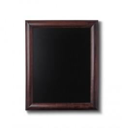 Křídová tabule s tmavě hnědým rámem z bukového dřeva