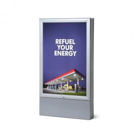 LED Světelný venkovní plakátový totem