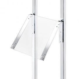 LEDMAG úhlový držák s magnetickým panelem s LED osvětlením