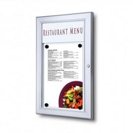 Venkovní menu vitrína