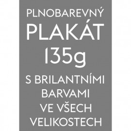 Plnobarevný plakát