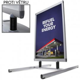 Venkovní stojan Windtalker Excel Eco s kovovou podstavou