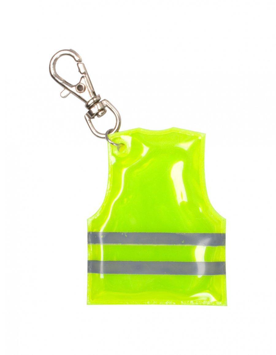 """""""Pit Lane"""" přívěšek na klíče ve tvaru reflexní vesty, žlutá"""