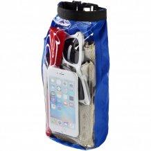 Nepromokavý vak Tourist, 2 l, outdoorový styl s pouzdrem na telefon, modrá