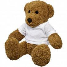 Velký plyšový medvěd Shrex v tričku, bílá
