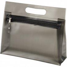 Toaletní taška Paulo z průhledného PVC, černá