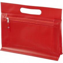 Toaletní taška Paulo z průhledného PVC, červená