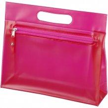 Toaletní taška Paulo z průhledného PVC, růžová