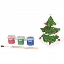 Namalujte vánoční stromek, bílá