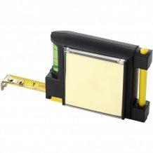 Měřicí pásmo 2 m s vodováhou, černá/žlutá