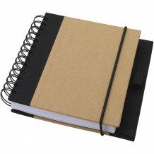 Recyklovaný zápisník Evolution, bílá/černá