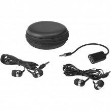 Sluchátka a rozbočovač SoundOff s pouzdrem, černá