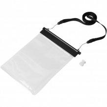 Vodotěsný obal Splash na mini tablet, černá/průhledná