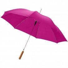"""23"""" deštník Lisa s automatickým otvíráním a dřevěnou rukojetí, růžová"""
