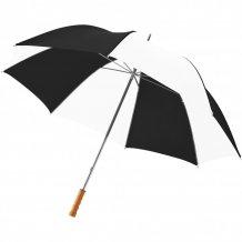 """30"""" golfový deštník Karl s dřevěnou rukojetí, černá/bílá"""