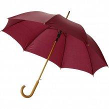 """23"""" deštník Kyle s automatickým otvíráním a dřevěnou tyčí a rukojetí, červená"""