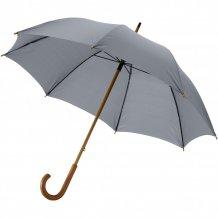 """23"""" klasický deštník Jova s dřevěnou tyčí a rukojetí, šedá"""