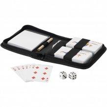 Dvoudílný set hracích karet Tronx se sáčkem, černá