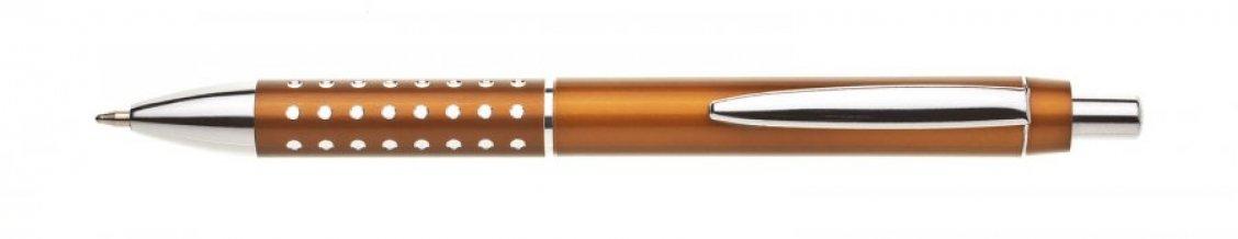 Propiska plast BLERA, oranžovohnědá