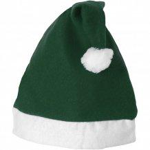 Christmas čepec, zelená/bílá