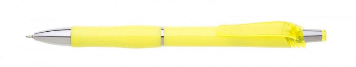 Propiska plast FLORI s náplní semigel, žlutá