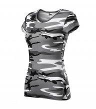 Pure tričko dámské, camouflage gray