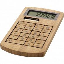 Bambusová kalkulačka Eugene, hnědá