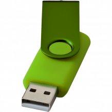 USB disk Rotate-metallic, 4 GB, zelená