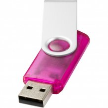 USB disk Rotate-translucent, 4 GB, růžová